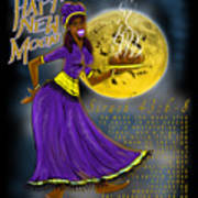 Happy New Moon Sirach 43 Art Print