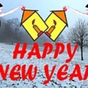 Happy New Year 24 Art Print