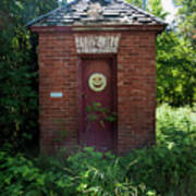 Happy Outhouse Art Print