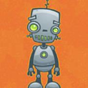 Happy Robot Art Print by John Schwegel
