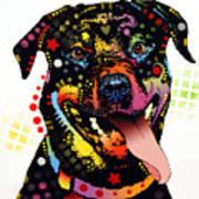 Happy Rottweiler Art Print