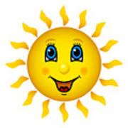 Happy Smiling Sun Art Print