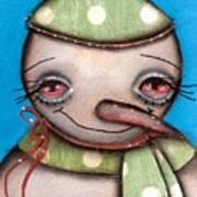 Happy Snow Man Art Print
