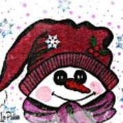 Happy Snowmen Art Print