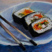Happy Sushi Art Print