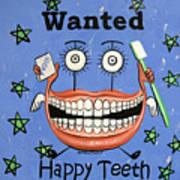 Happy Teeth Art Print