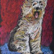 Happy The English Sheepdog Art Print