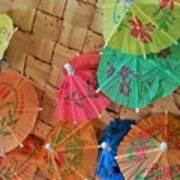 Happy Umbrellas Art Print