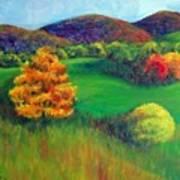 Happy Valley Hills Art Print by Lyn Vic