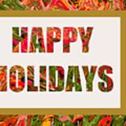 Happy Holidays Card Art Print