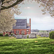 Harbaugh Church In The Spring Art Print