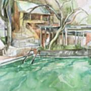 Harbin Hotsprings Pool Art Print