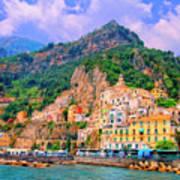 Harbor At Amalfi Art Print