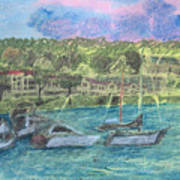 Harbor At Halesite Art Print