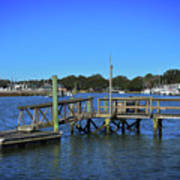 Harbor At Mcclellanville, Sc Art Print
