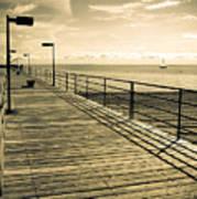 Harbor Beach Michigan Boardwalk Art Print