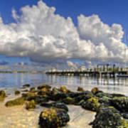 Harbor Clouds At Boynton Beach Inlet Art Print