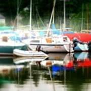 Harbor Masts Art Print