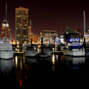 Harbor Nights - Trade Center In Focus Art Print
