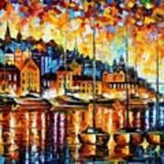 Harbor Of Corsica Art Print