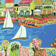 Harbor Of Gardens  Art Print by Karen Fields