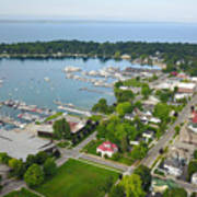 Harbor Springs From Above Art Print