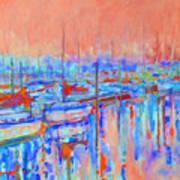 Harbor Sunrise  Eight Am Art Print