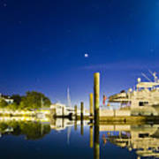 Harbor Town Yacht Basin Light House Hilton Head South Carolina Art Print