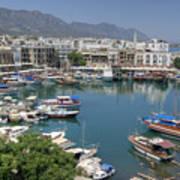 Harbour At Kyrenia Art Print
