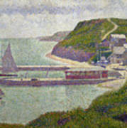 Harbour At Port En Bessin At High Tide Print by Georges Pierre Seurat