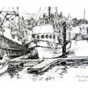 Harbour Boats Art Print