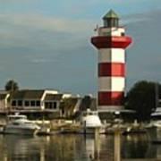 Harbour Town Light Hilton Head South Carolina Art Print