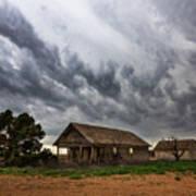 Hard Days - Abandoned Home On West Texas Plains Art Print
