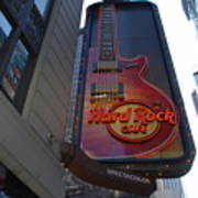 Hard Rock Cafe N Y C Art Print by Rob Hans