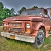 Hard Working Farm Truck Art Print