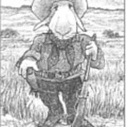 Harecowboy Art Print
