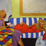 Harlequin Divas Art Print