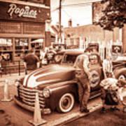 Harley 110 In Downtown Milwaukee Art Print