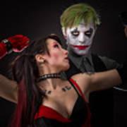 Harley And The Joker Art Print