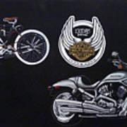 Harley Davidson 105th Anniversary Art Print