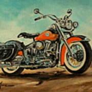 Harley Davidson 1956 Flh Art Print