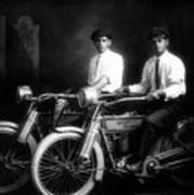 William Harley And Arthur Davidson, 1914 -- The Founders Of Harley Davidson Motorcycles Art Print