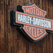 Harley Davidson Sign In West Jordan Utah Photograph Art Print