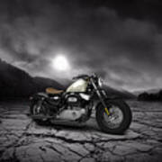 Harley Davidson Sportster Forty Eight 2013 Mountains Art Print