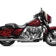 Harley-davidson Street Glide Motorcycle Art Print