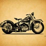 Harley Davidson Ulh 1941 Art Print