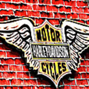 Harley Davidson Wings Art Print