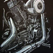 Harley Engine Art Print