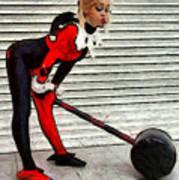 Harley Quinn Classic  - Free Style -  - Da Art Print