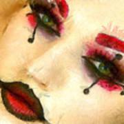 Harley Quinn Face - Da Art Print